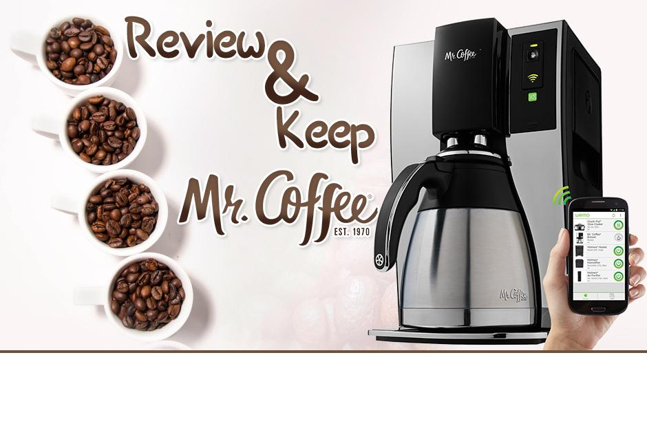 Mr Coffee Smart Coffee Maker Review : Review & Keep a Mr. Coffee Wifi Coffee Maker for FREE!