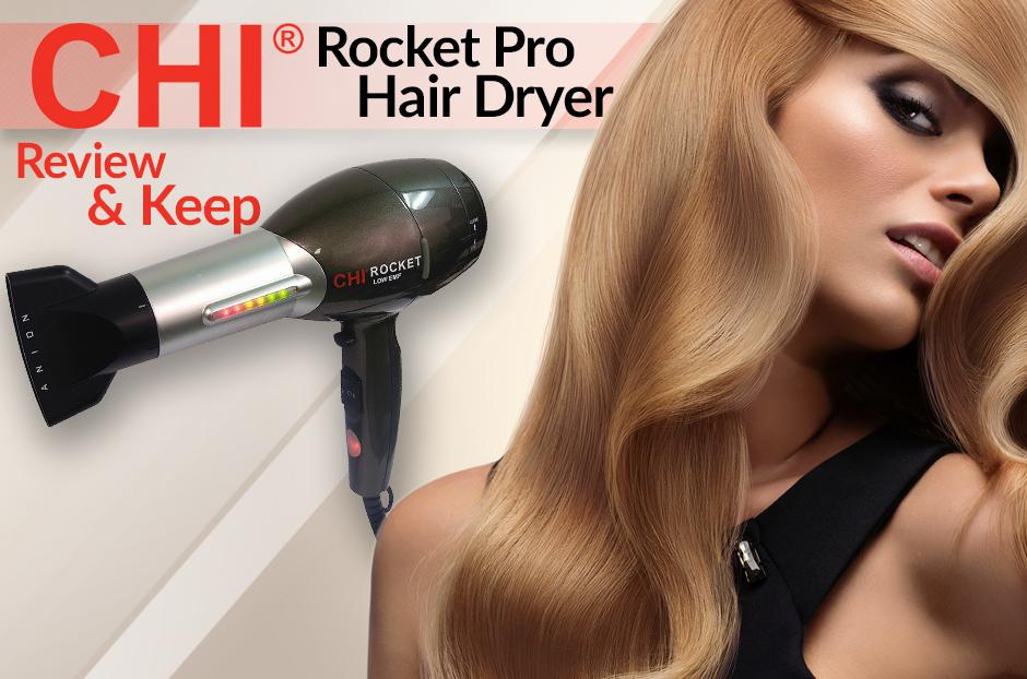 free chi rocket hair dryer