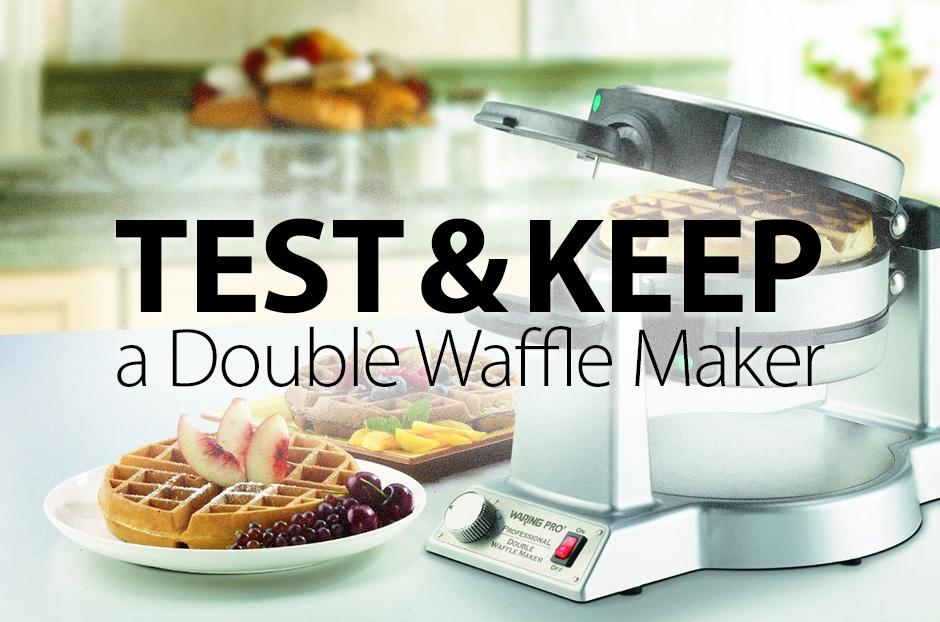review a free double waffle maker