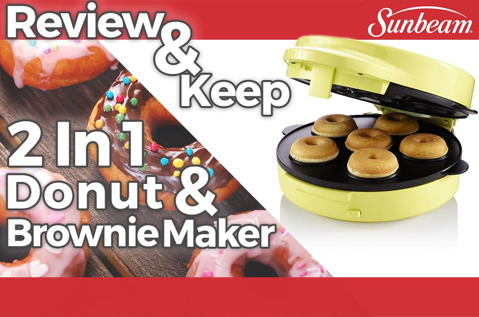 sunbeam 2in1 donut and brownie maker