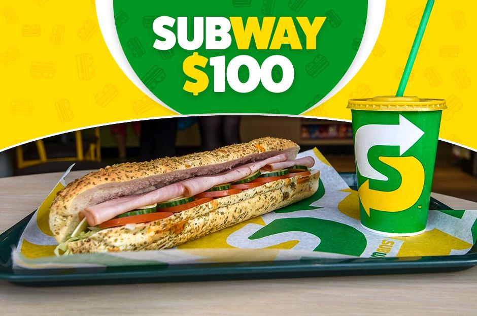 free subway gift card