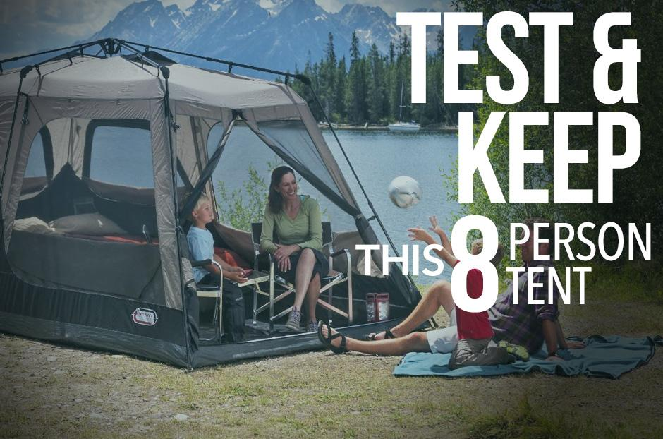 Try out this Coleman 8 Person Tent for FREE! & How You Can Get A Free Coleman 8 Person Tent